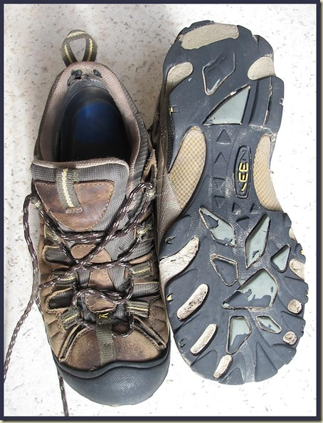 Keen Targhee 11 shoes after 1400km