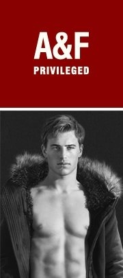"Model TBD by Bruce Weber for A&F Holidays 2011 ""Privileged"" campaign"