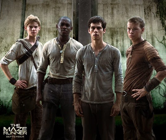 thomas brodie sangster, aml ameen, dylan o'brien, will poulter