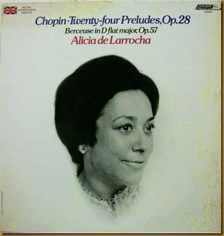 Chopin Preludios De Larrocha vinilo