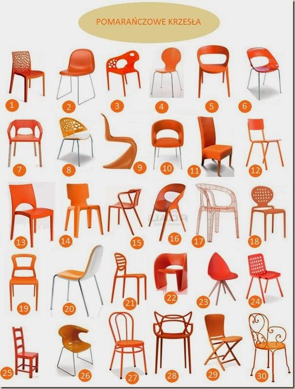 pomarańczowe krzesło