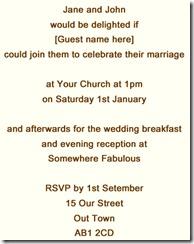 invite informal bng