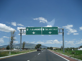 On the road to the Teotihuacan pyramids about 50 kms north east of Mexico City