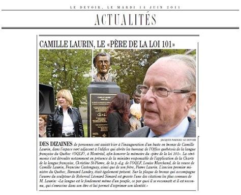 Loi 101 Camille Laurin LeDevoir 140611