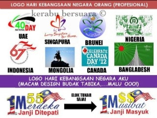 Jom Kita Tengok Logo Hari Kebangsaan Negara Orang Lain
