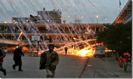 bombardeo fosforo Gaza