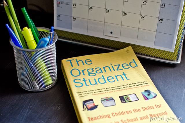 Organizing a Student Desk | The Organized Student book | personallyandrea.com