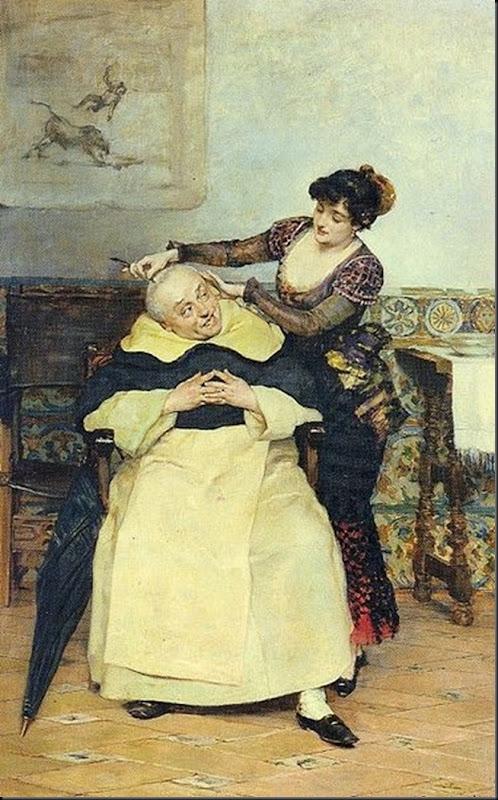 Vicente Palmaroli El corte de cabello