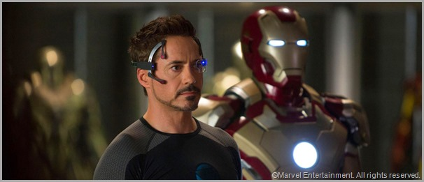 Robert Downey Jr. as Tony Stark. CLICK to visit the offical IRON MAN 3 site.