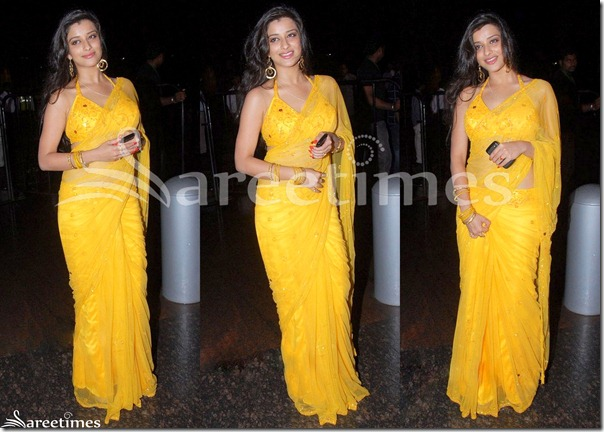 Madhurima_Yellow_Saree