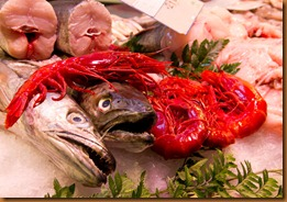 seville, red prawns