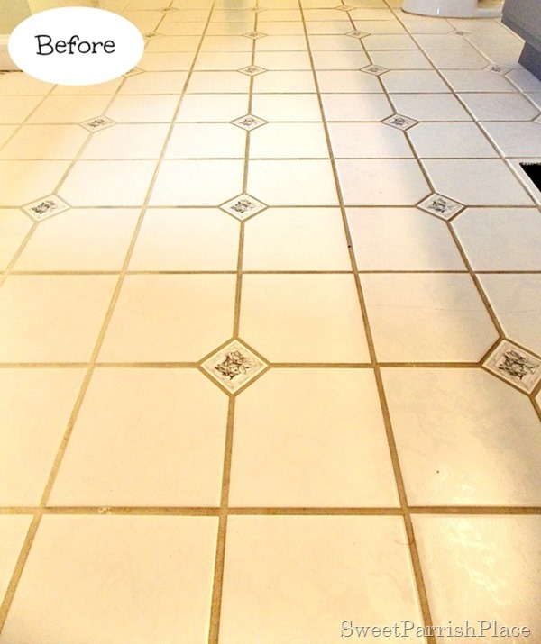 Bathroom grout before2