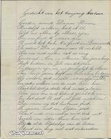 Gedicht 10 jarig bestaan 'Een in Streven' blz. 1