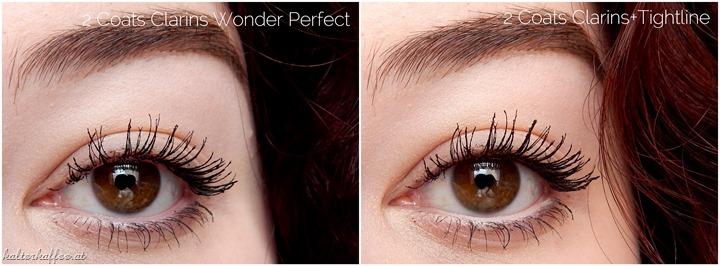 Clarins Wonder Perfect Mascara applied