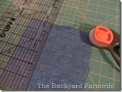 circle denim quilt tutorial - The Backyard Farmwife