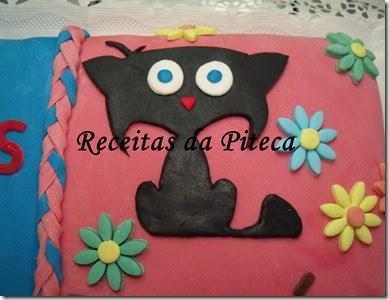 Bolo de aniversário para dois-gato preto