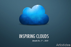 beautiful cloud icons