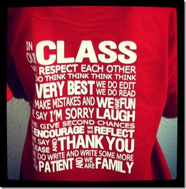 class tshirt
