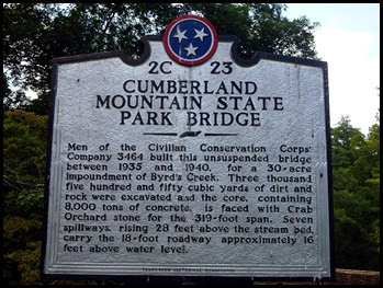 03e - Cumberland Mountain SP, Bridge Marker