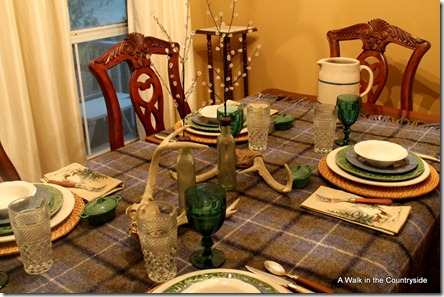 A Walk in the Countryside: Winter Plaid Tablescape