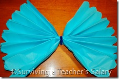 blue diy truffula tree tissue paper