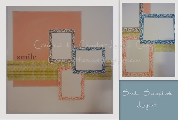 smile scrapbook layout craftylittlemoos