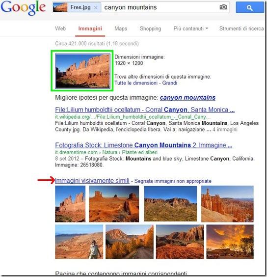 Risultato ricerca Immagini visivamente simili di Google Immagini