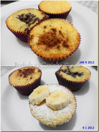 muffins de banana com iogurte
