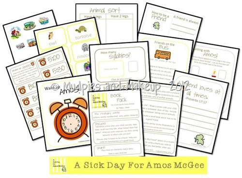 Book Ideas for A Sick Day For Amos McGee