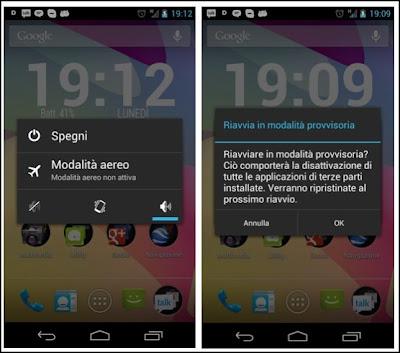 Android 4.1 Jelly Bean - modalità provvisoria