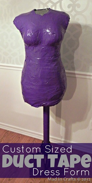 duct tape dress form graphic