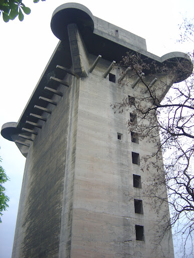 Flak Towers of the Reich : A flak tower in the Augarten, Vienna, Austria.