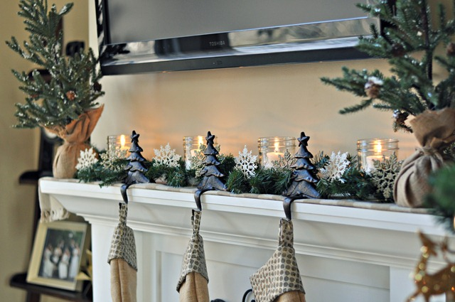 Decor and the Dog Holiday Mantel 2