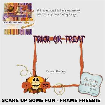 Romajo - Scare Up Some Fun - Freebie Frame Preview