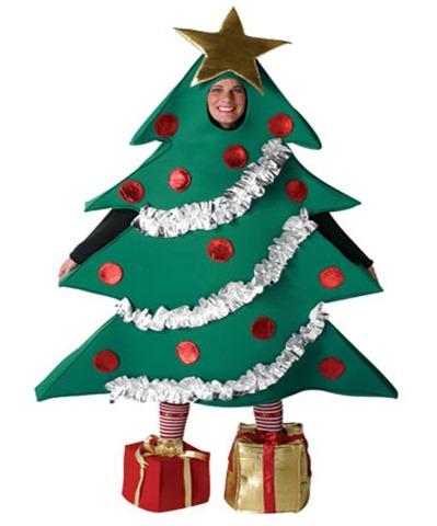 disfraz para navidad de arbol navideño