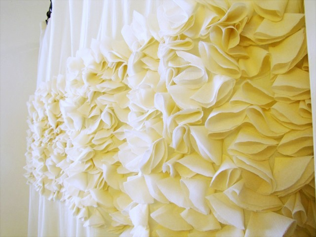 DIY petal shower curtain