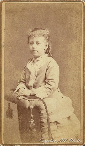 CdV cute girl Ohio DL Antiques