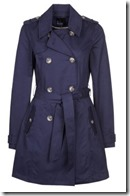 Even and Old Blue Trench Coat