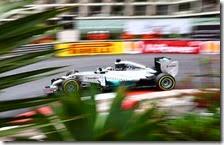 Hamilton nelle prove libere del gran premio di Monaco 2014
