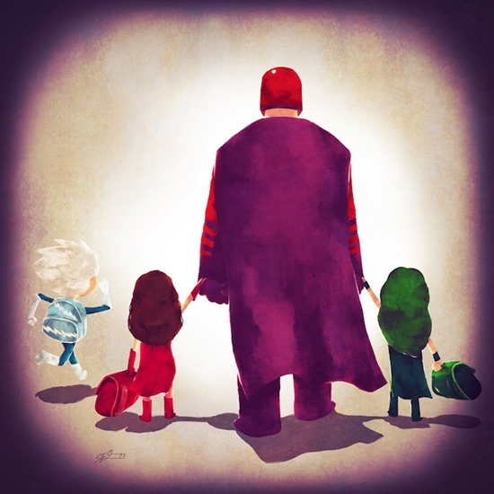 Super heróis em família 07