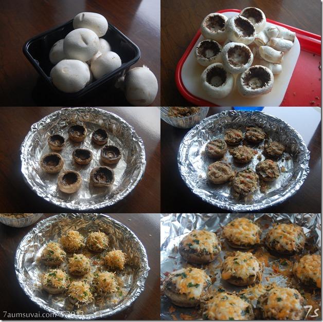 Stuffed mushroom process