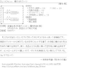 [AA]レシピNo.xxx  鯉のぼりスーツ