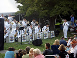 The Navy Show Band performing at the Newport Art Museum