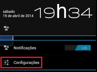 Clique em Configurações - BlueStacks