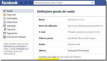 MenuFacebook