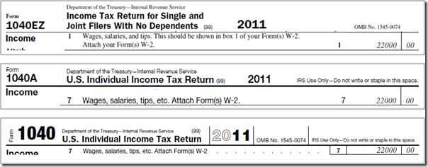 Taxes - 1040 W-2