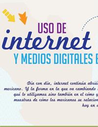[Infografía] Uso de internet y medios digitales en México