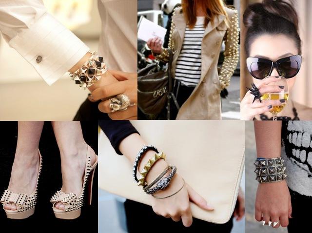 SPIKES pulseiras bracelete acessorios