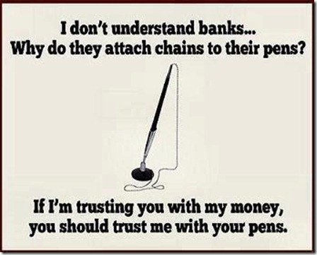 banking and pens