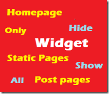 Hide and Show Widgets on Blogger Pages